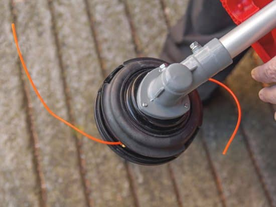 Lawnmower head trimmer for grass
