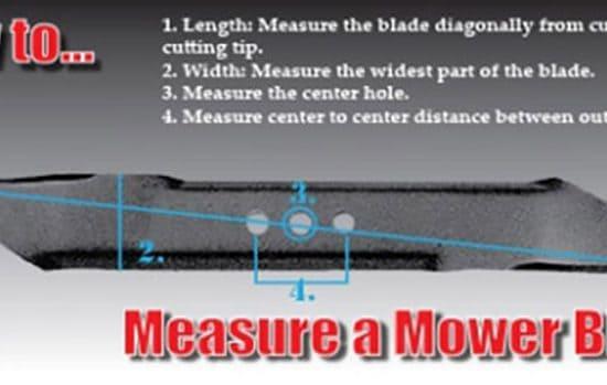 Measure a Mower Blade